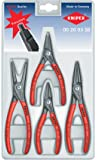 KNIPEX 00 20 03 SB 4 Piece Precision Circlip Snap-Ring Pliers Set