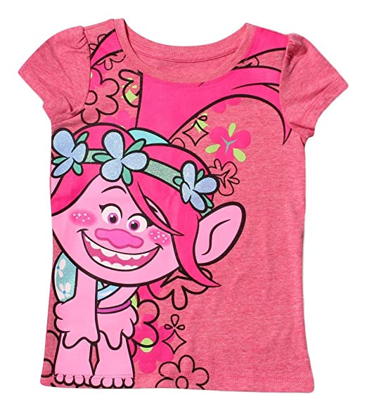 ab87a022 Amazon.com: Trolls Girls' Toddler Poppy Short Sleeve T-Shirt: Clothing