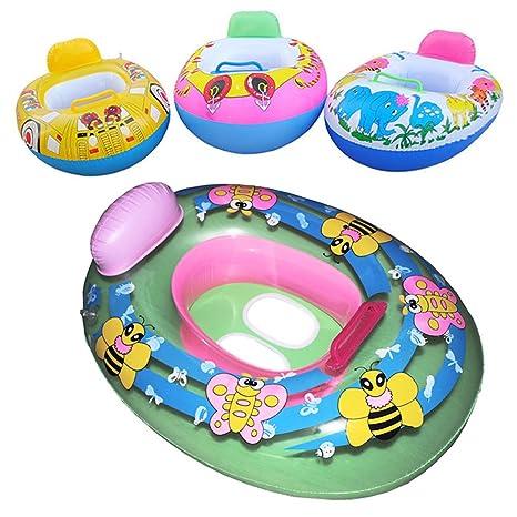 Hinmay - Asiento hinchable para piscina, para niños, para piscina, entrenamiento, playa, flotador, anillo de natación