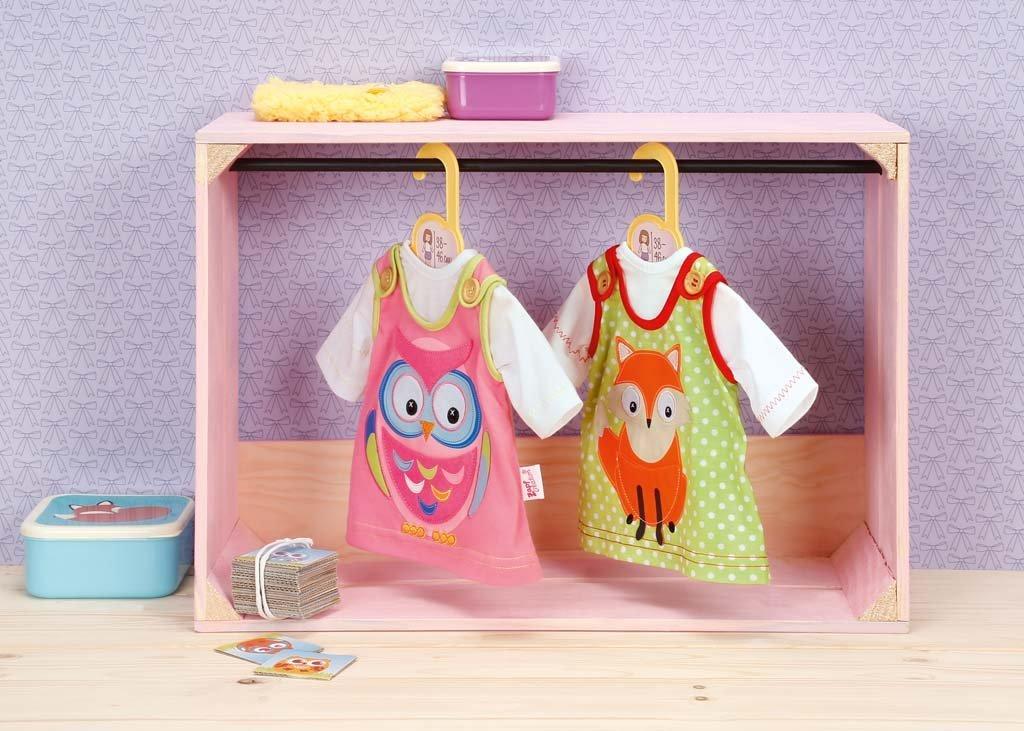 Zapf Creation 870082 Dolly Moda Kleid mit Eule 38-46 cm