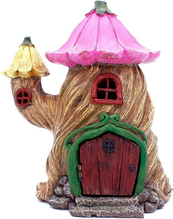 Fairy Garden Tree House - 7 Inch Fairy Garden Home Detailed Fairy Garden Decor with Working Door
