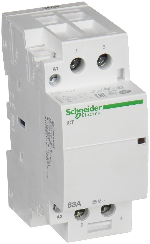 Schneider Electric A9C20862 Contactor Modular Ict 63A 2No 220-.240V 50Hz: Amazon.es: Industria, empresas y ciencia