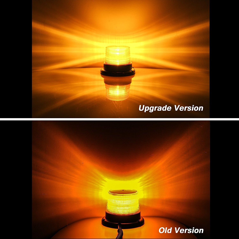 Appow Gyrophare Orange LED 30 LED phare d/'avertissement clignotant magn/étique pour v/éhicule avec prise allume-cigare 12 V