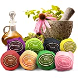 Bath Bombs Gift Set Of 8 By Zarwiiz: Vegan And Handmade Lush Water Fizzies With Shea Butter Essential Oils And Natural Scents For Bubble Bath Aromatherapy, Moisturize And Soothe Sensitive Skin