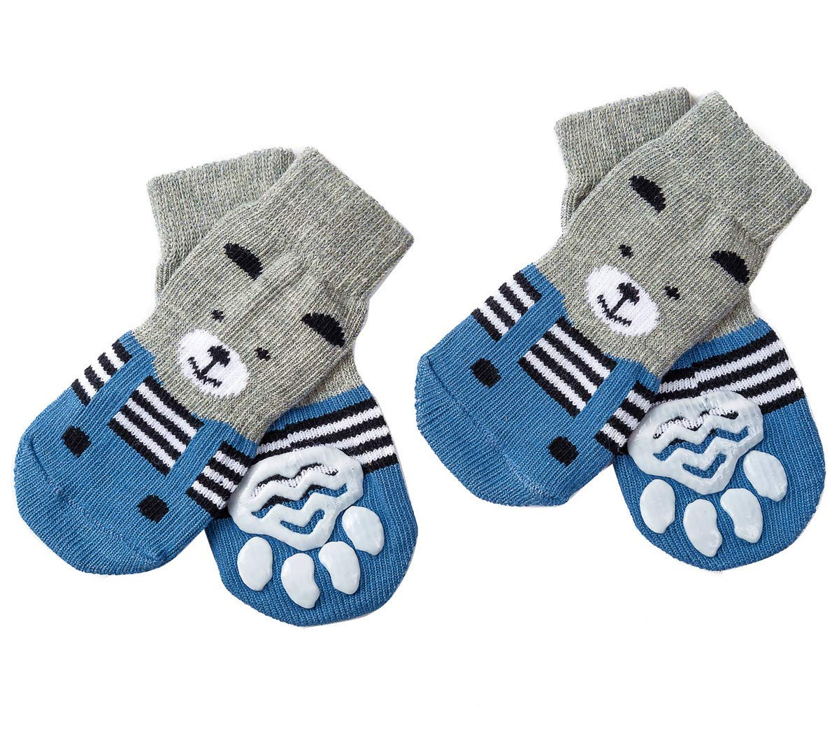 Akopawon 4 Pcs Anti-Slip Dog Socks