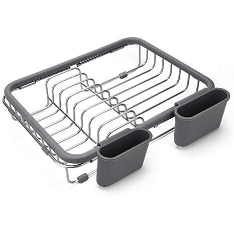 Expandable Dish Draining Rack   Over The Sink Dish Drainer, Dish Rack In  Sink Or