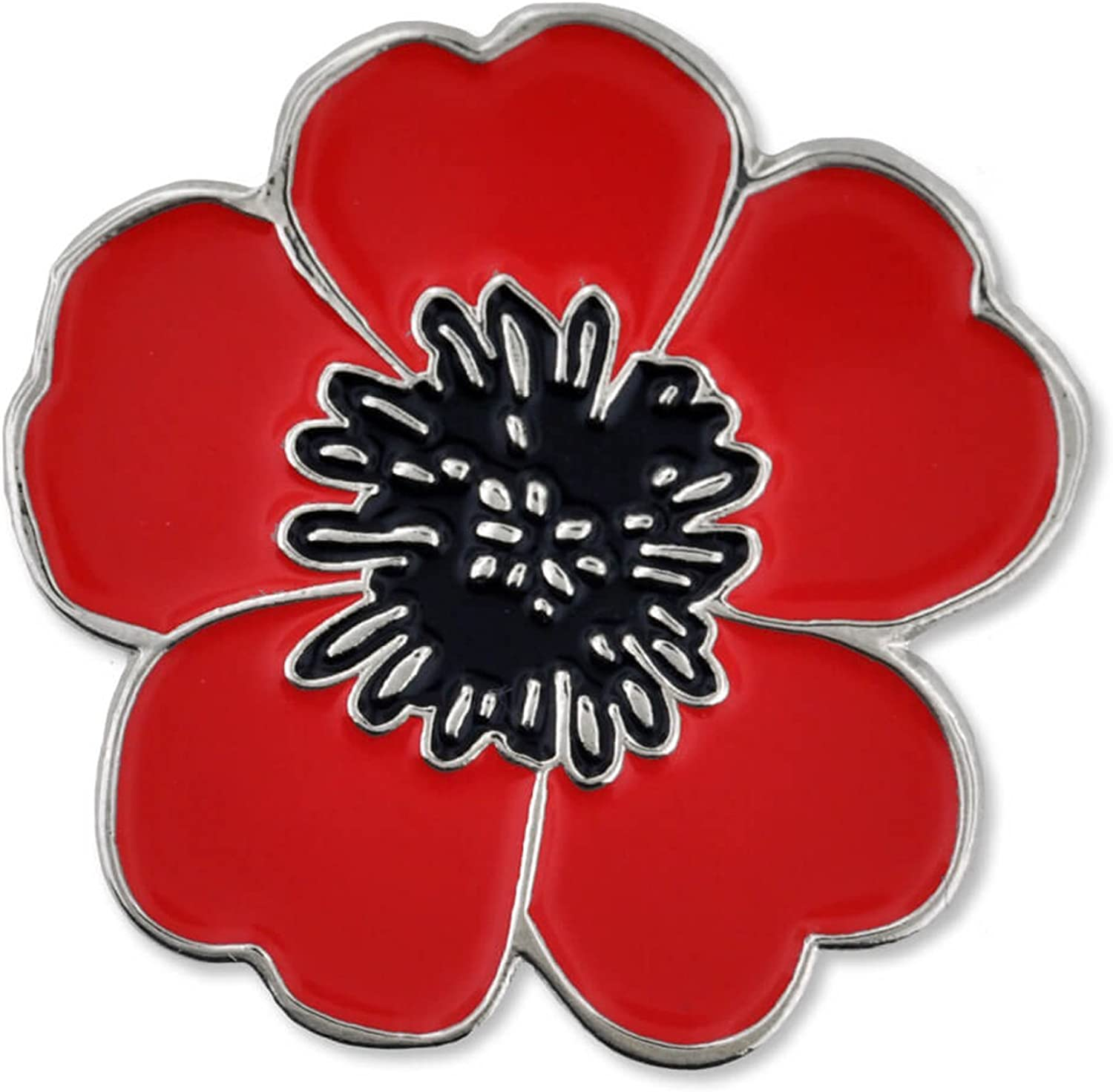 Amazon Com Pinmart Red Poppy Flower Remembrance Memorial Day