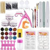 Acryl Nail Kit Volledige Set Manicure Nail Art Kit Professionele Acryl Glitter Poeder Vloeibare Borstel Nail Art Tips…