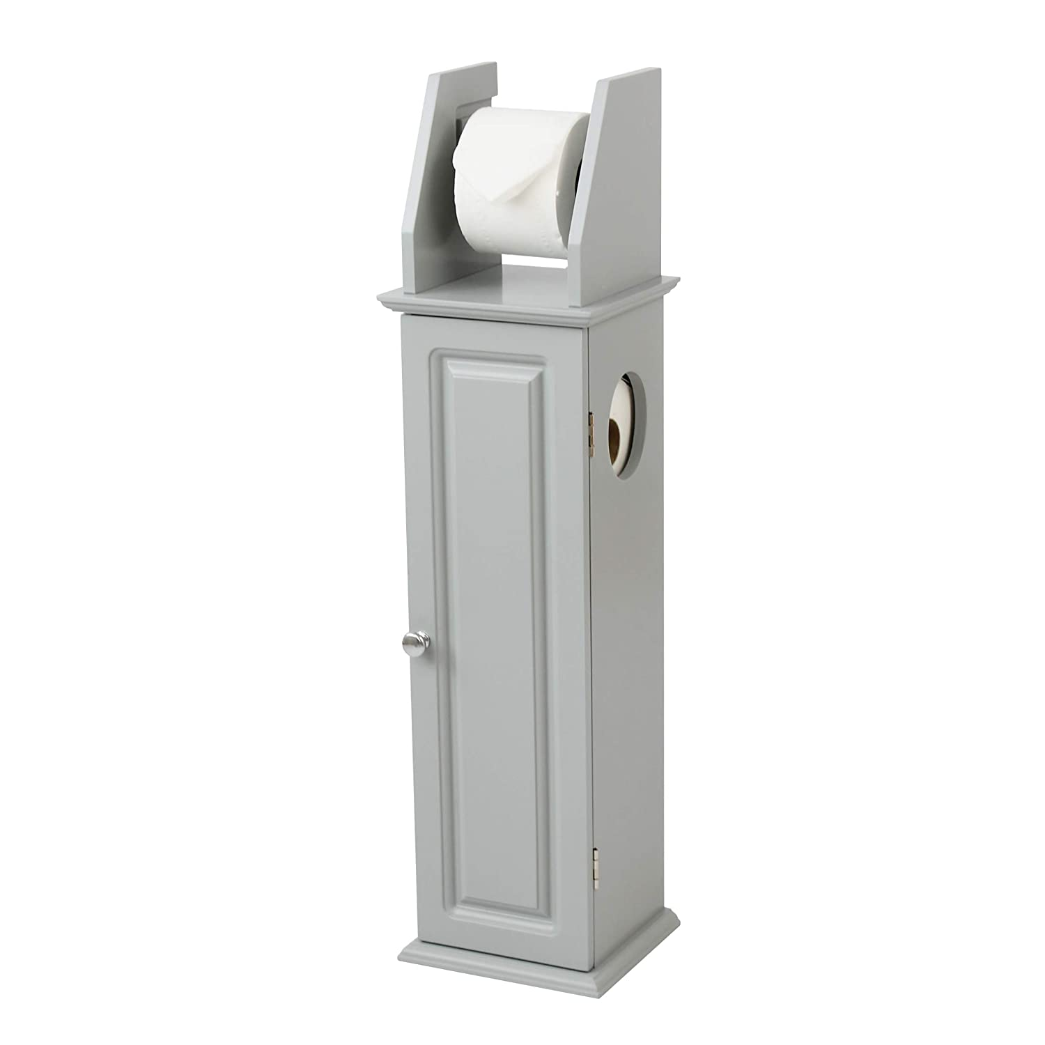Grey Wooden Bathroom Room Set Toilet Roll Holder Under Sink Mirror Cabinet (Laundry Hamper) House & Homestyle