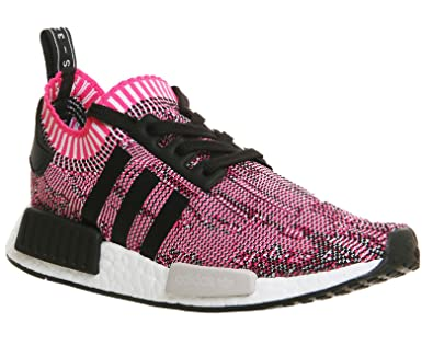 bf2bceb13 Image Unavailable. Image not available for. Color  adidas NMD R1 Womens  Prime Knit BB2363 Shock Pink ...