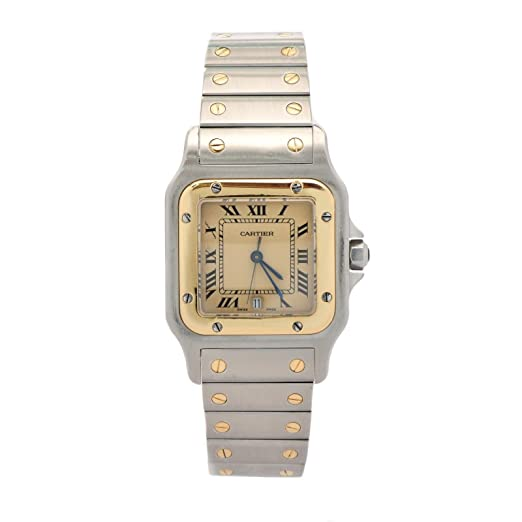 61a46a667fe3c Cartier Santos Cuarzo Mens Reloj 187901 (Certificado) de Segunda Mano   Cartier  Amazon.es  Relojes