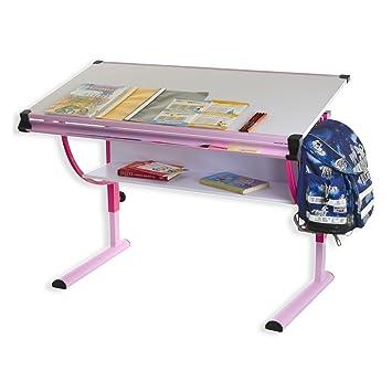 idimex carina hhenverstellbarer kinderschreibtisch metall rosa 1135 x 60 x 72 - Hohenverstellbarer Kinderschreibtisch Praktisch Und Funktionell
