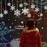 AWHAO ウォールステッカー クリスマスス 雪の結晶 雪の華 雪花 サンタ 雪 x-mas xmas christmas シール 壁紙 インテリア 部屋 クリスマス 飾り北欧 木 雑貨 ガラス 窓 DIY オーナメント パーティ 飾りつけ ツリー