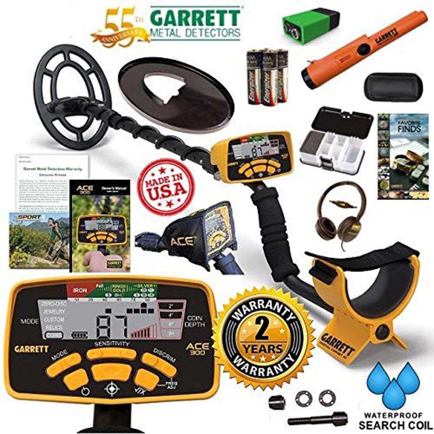 Amazon.com: Garrett Metal Detectors ACE 300 55 Year ...