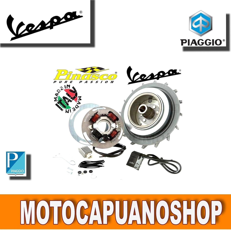 Pinasco Volante magn/ético aligerado 1,6 kg para Encendido el/éctrico Original Piaggio Vespa PX 125 150 200 LML Star 125 150 2T Art 25060832