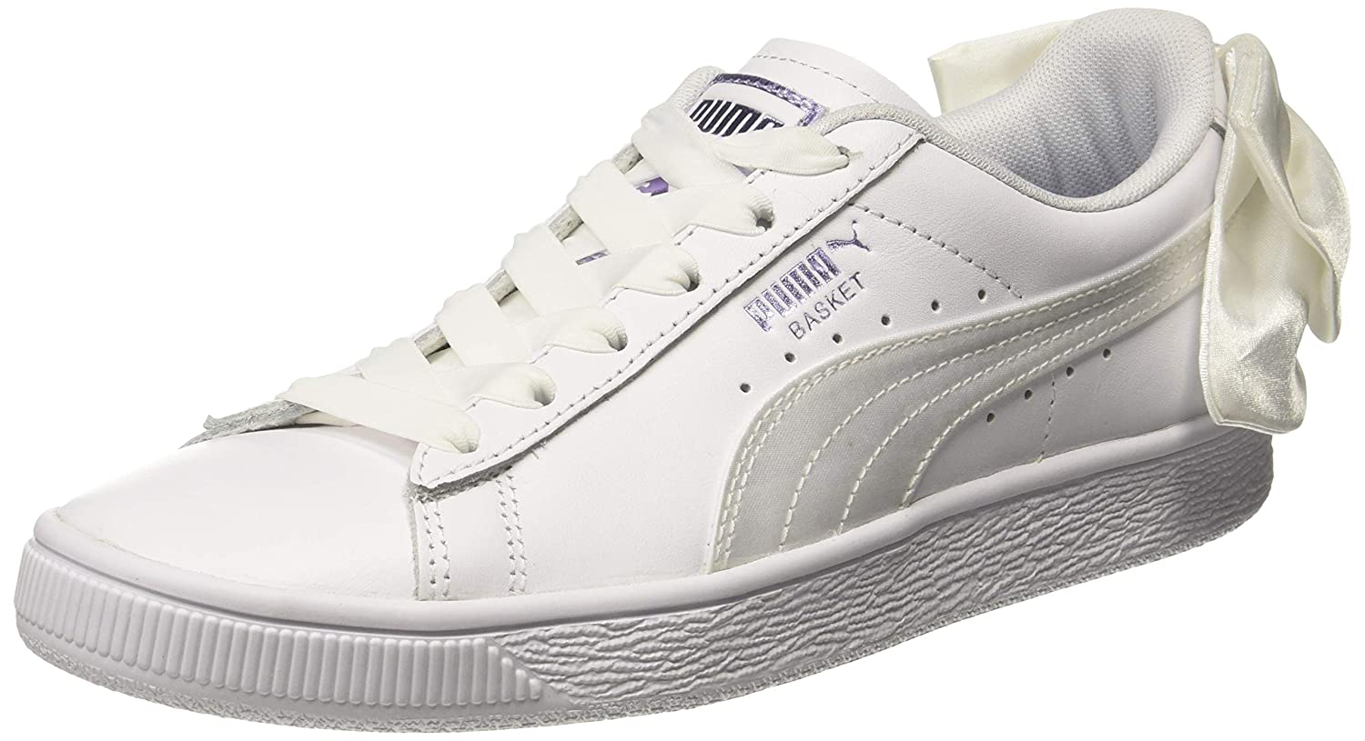 Basket Bow Satin Wn s Leather Sneakers