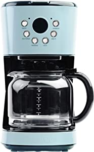 Haden 75032 Heritage Innovative 12 Cup Capacity Programmable Vintage Retro Home Countertop Coffee Maker Machine with Glass Carafe, Turquoise Blue