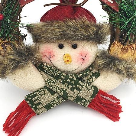 Oulii Corona De Navidad Para Puertas Guirnalda De Navidad Con Muneco - Coronas-de-navidad-para-puertas