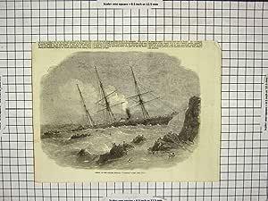 Original viejo victorianos de naufragio Chilian vapor