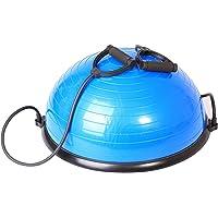 SportPlus Ø62 cm Balance Ball/Balance Trainer mit Zugbändern, beidseitig nutzbar, GS-geprüft, SP-GB-001