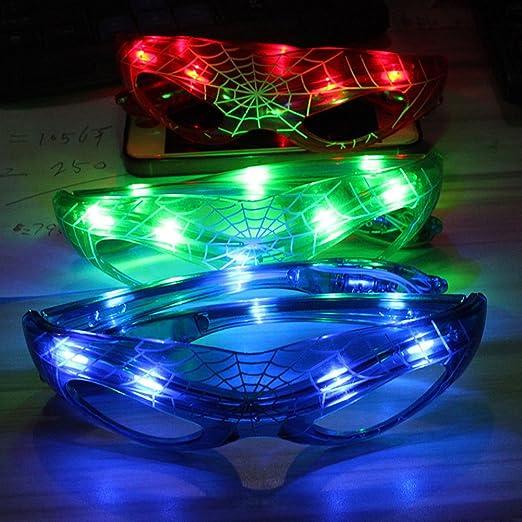 Gafas de sol para disfraz de Spiderman con luz LED, gafas de sol ...