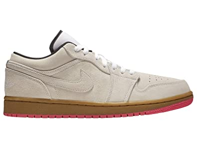 buy online 635b6 d0d95 Amazon.com | Nike Men's Jordan AJ 1 Low White/Gum Yellow ...