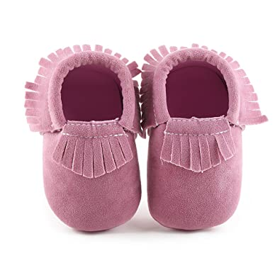 b116fcc6008f MSZKK Soft Bottom Tassel Toddler Shoes Baby Shoes Fashion 0-1 Year Old Baby  Shoes