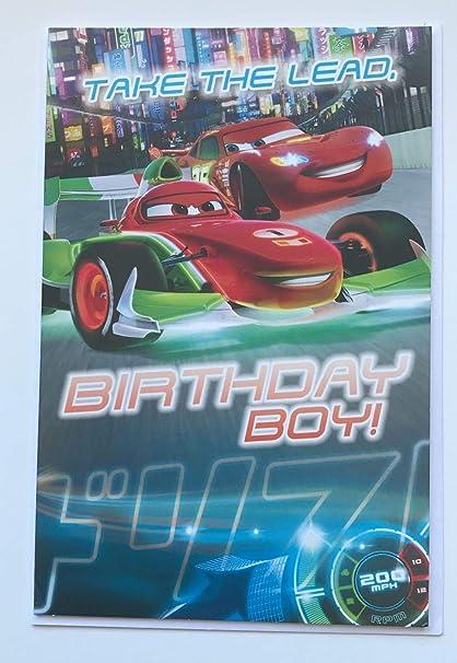 Cars de Disney Pixar Tarjeta de cumpleaños para cualquier ...