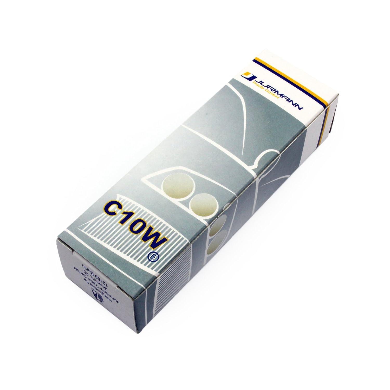 10x Stck Jurmann 12v 10w C10w 41mm Sv85 8 Werkstattware Renault Megane Fuse Box Cigarette Lighter Glassockel Halogen Lampen Autolampen Neu Auto