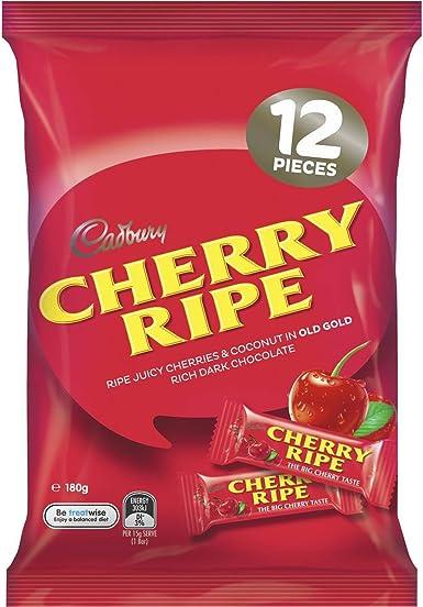 Cadbury Cherry Ripe Multi Pack 180g 12 Delicious Pieces