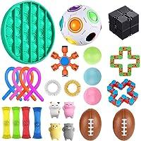 Sensory Fidget Toys Set, 25Pcs, Stress Relief and Anti-Anxiety Tools Bundle Sensory Toys Set Sensory Therapy Toys for…