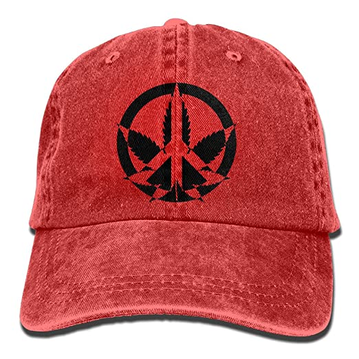 NaNa Home Peace Marijuana Stylish Denim Baseball Adjustable Caps Hats