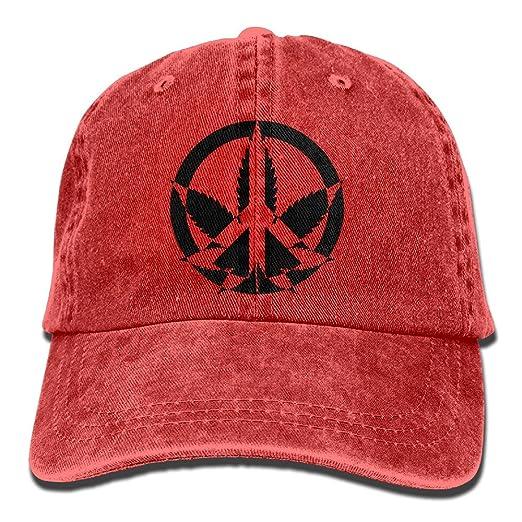 NaNa Home Peace Marijuana Stylish Denim Baseball Adjustable Caps Hats