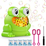 Automatic Bubble Machine With 5pcs Bubble Concentrate, Bubble Blower Toys for Kids,Frog Bubble Blower Machine Make Over 500 B