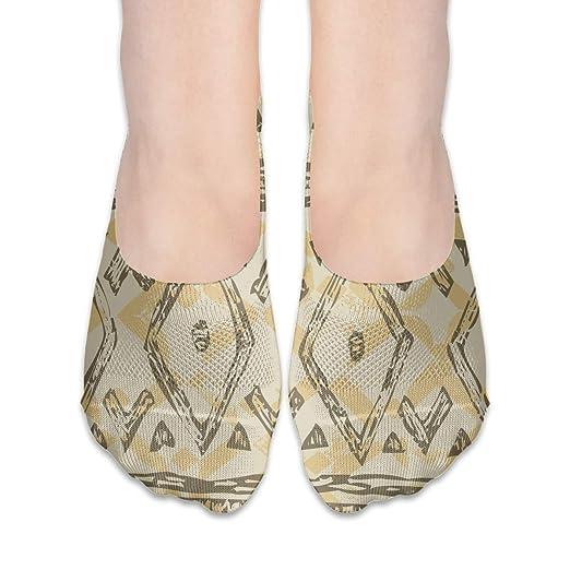 Amazon com: Mayan Tribes Pattern Vintage Thin Hidden Yoga Socks Non