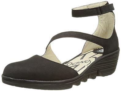 9f08290de53c56 Fly London Women s s Plan717fly Ankle Strap Pumps  Amazon.co.uk ...