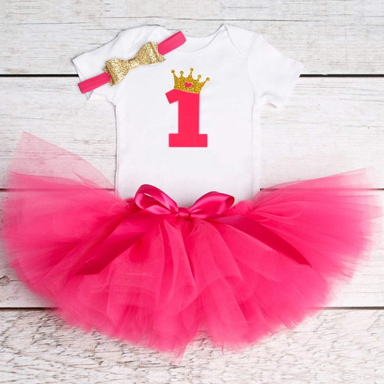Amazon.com: Chitop 1 Year Baby Girl Dress Princess Girls - Tutu ...