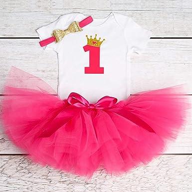Amazon.com: Chitop - Vestido de 1 año para bebé, diseño de ...