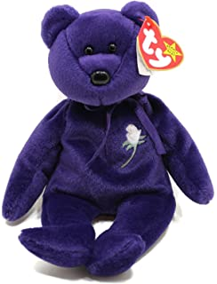 eac6ef6aee4 Princess Diana Ty Beanie Baby Bear - Mint w  Collectible Display Case