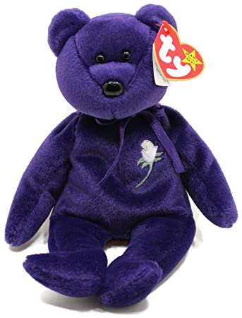 Princess Diana Ty Beanie Baby Bear - Mint w  Collectible Display Case 63534b3a442