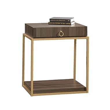 Sauder 417841 End, Furniture International Lux Diamond Ash Side Table