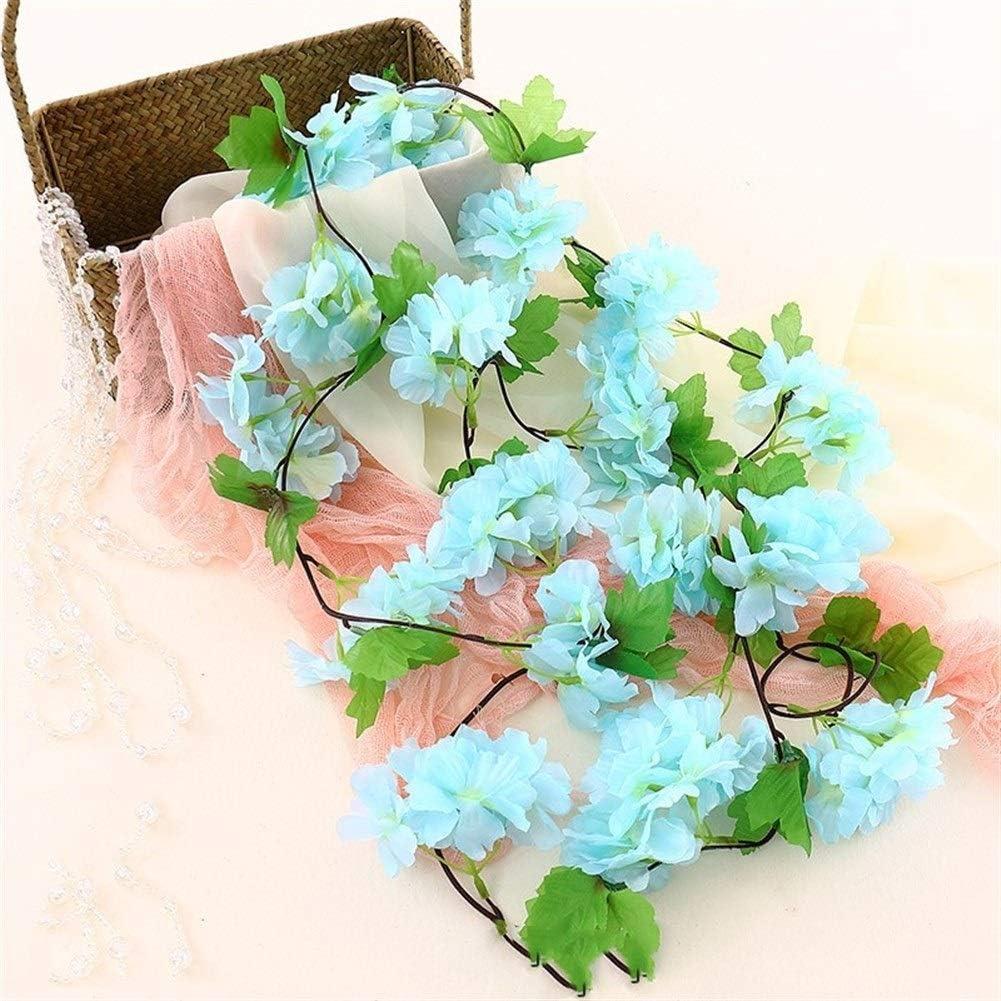 2.35M Artificial Cherry Blossoms Hanging Rattan Garland Fake Flower Vine Decor