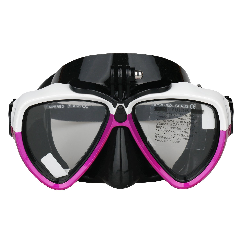 Rojo RSYP Gafas Buceo M/áscaras de Buceo de cristal revestida para Submarinismo y Snorkel Compatible con c/ámara deportiva