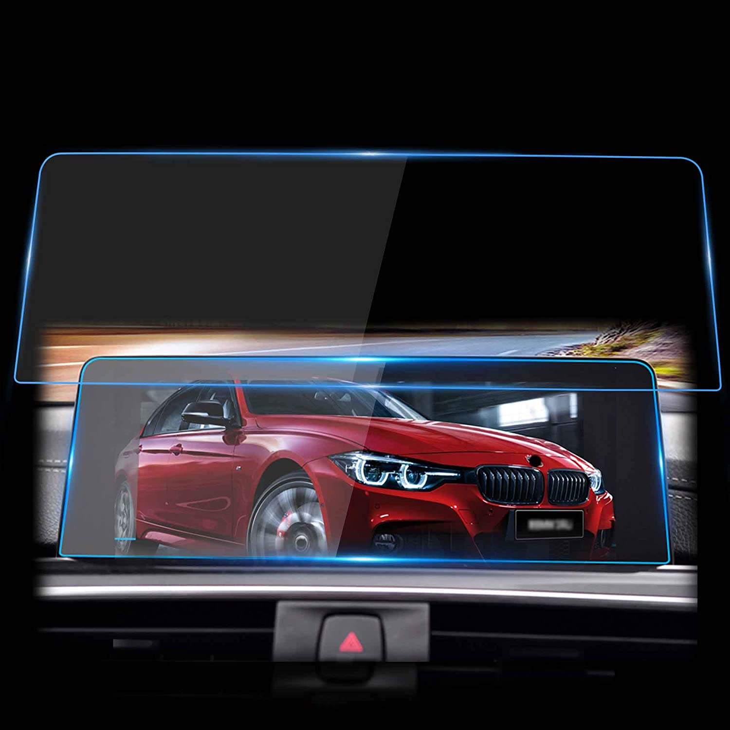 WINKA Navigation Screen Protector Compatible with F30 F31 F32 F33 F34 F36 HD Clear Screen Protector for 2013-2018 BMW 3 Series Tempered Glass Against Scratch 1PCS