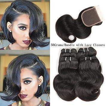 Amazon Com Peruvian Short Hair Virgin Body Wave Bundles 50g