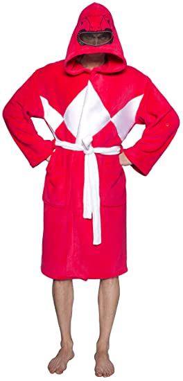 Power Rangers Red Hooded Robe w/ Mesh Mask (One Size)