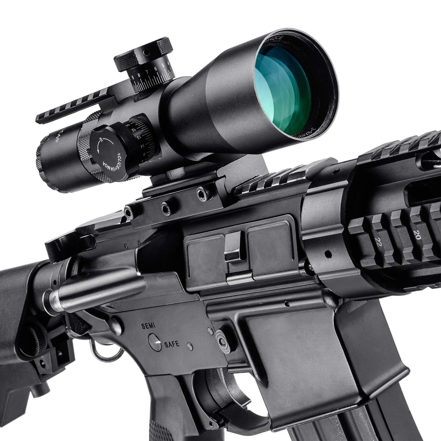 BARSKA New Rifle Scopes 3-9x42mm Red/Green Mil-Dot Reticle with Accessory Rail Mount by BARSKA