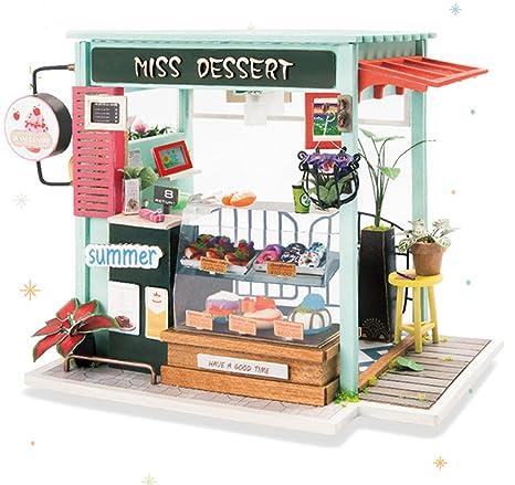 Regali Di Natale Artigianali E Creativi.Rolife Diy Casa Delle Bambole In Legno In Miniatura Handcraft Kit Con Mobili Fai Da Te In Legno Casa Delle Bambole Regali Di Compleanno Creativi Di