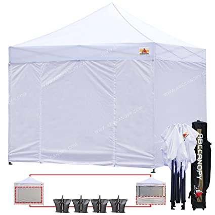 ABCCANOPY White 10 X 10 Ez Pop up Canopy Commercial Instant Gazebos with 6 Removable Sides  sc 1 st  Amazon.com : 10x10 commercial canopy - memphite.com