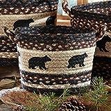 Black Bear Braided Utility Lodge Basket - Small - Lodge Decor